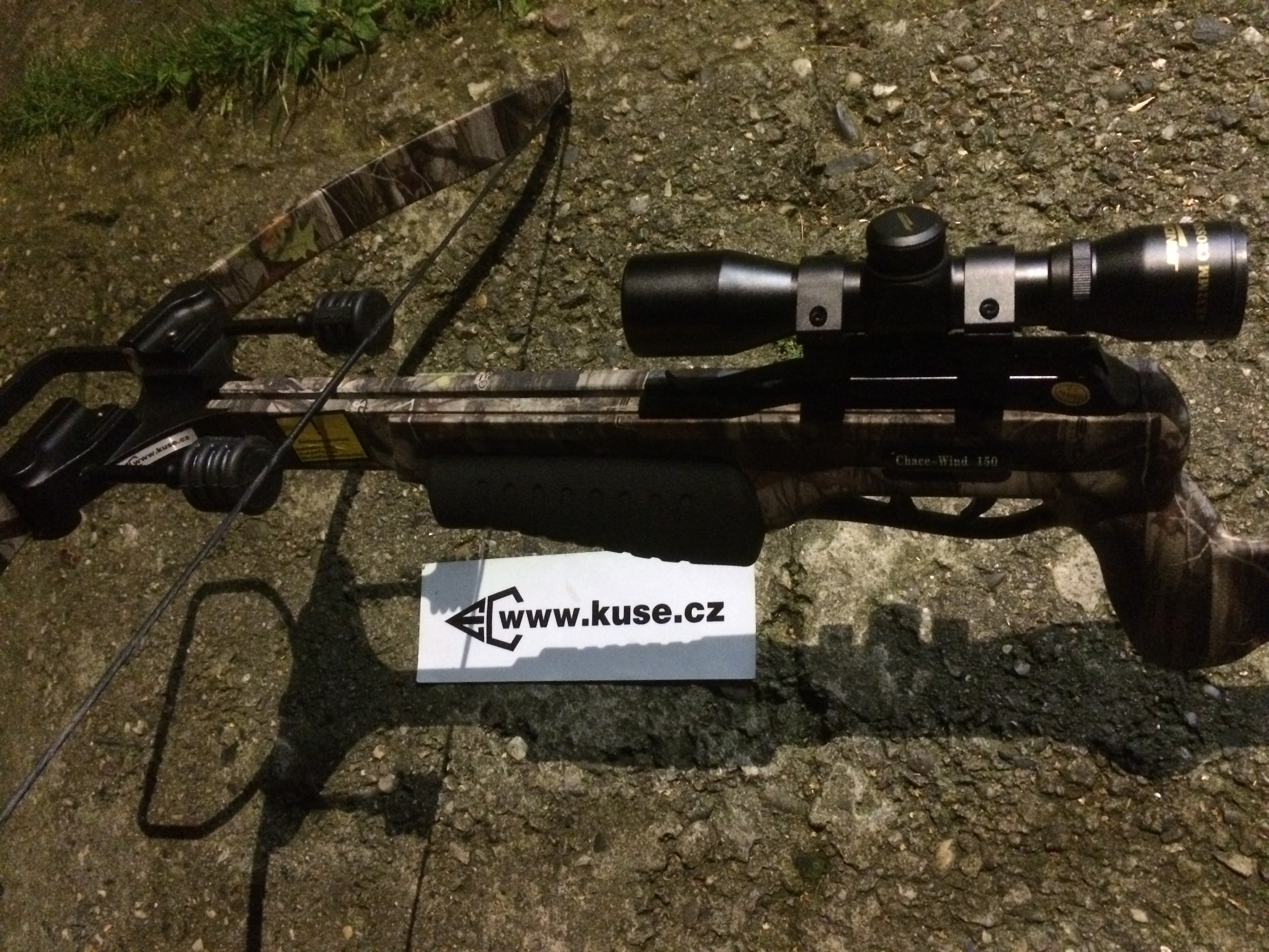 CHASE WIND 4x32 SCOPE set 270 fps s TLUMIČEM TĚTIVY