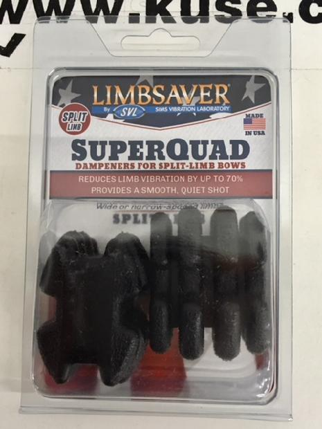 SuperQuad LIMBSAVER Split Limb Dampener BLACK - 2 Pack
