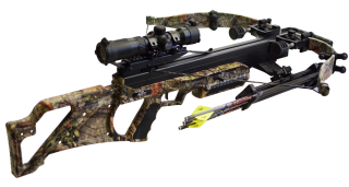 BULLDOG 385 CUSTOMIZED CAMO s orig. optikou Excalibur TACT 100